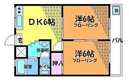 東京都狛江市西野川4丁目の賃貸アパートの間取り