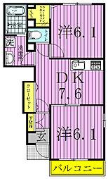 モデルノパレスII[1階]の間取り