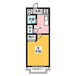 コーポアザミ[2階]の間取り