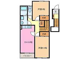 エクシードIII[2階]の間取り