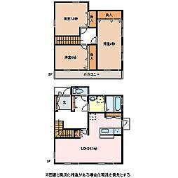 [一戸建] 長野県松本市開智3丁目 の賃貸【/】の間取り