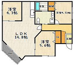 Park Hills Oyake Villa 4(パークヒルズオオヤケヴィラ4)[104号室]の間取り