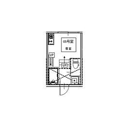 シャンブル東新宿[103号室]の間取り