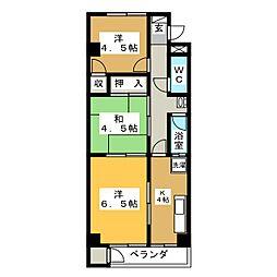 マンションコオノ[5階]の間取り