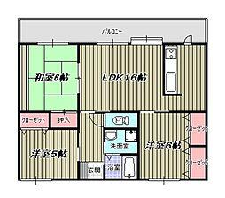 村第3ビル[202号室]の間取り