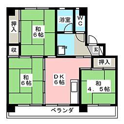 ビレッジハウス大池 2号棟[2階]の間取り