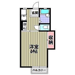 アミティハイム[1階]の間取り