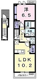 岡山県岡山市東区東平島丁目なしの賃貸アパートの間取り