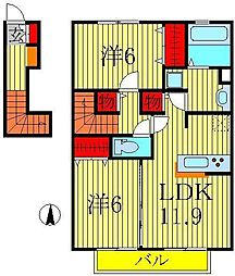 セジュールV[2階]の間取り