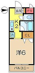 EXCEL COURT 124-B[2階]の間取り