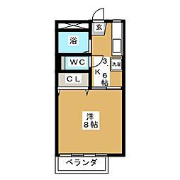 タカラユアパートII[2階]の間取り