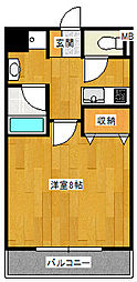 エスポワール福沢[302号室]の間取り