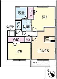 シダーフィールドC棟[1階]の間取り