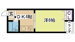 アクティ香露園[4A号室]の間取り