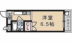 シャトーYOKOO[201号室号室]の間取り