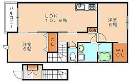 サニーカーサー三番館A[2階]の間取り