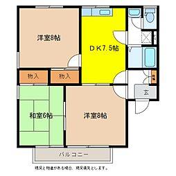 メゾンドF B棟[2階]の間取り