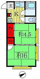 山本荘[2階]の間取り