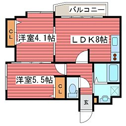 ル・ノール福住[2階]の間取り