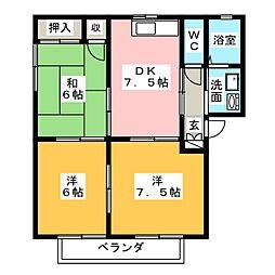 ガーデンプレイスRINO III[2階]の間取り