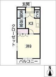 グランベル A棟[1階]の間取り