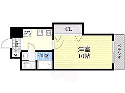 S-FORT江坂公園(旧ウォブ江坂) 7階1Kの間取り
