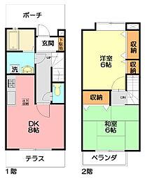 [テラスハウス] 神奈川県藤沢市善行1丁目 の賃貸【/】の間取り