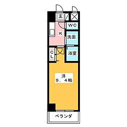 ホワイトクレスト[5階]の間取り