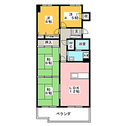 サーパス西古松 I[9階]の間取り