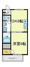 ラルーチェ逢阪[4階]の間取り