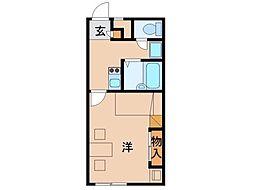 南海線 和歌山市駅 徒歩30分の賃貸アパート 1階1Kの間取り
