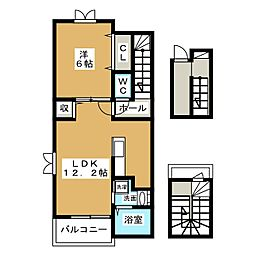 シャトレK[3階]の間取り