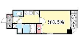 エスティロアール神戸駅前[13階]の間取り