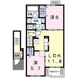 ユニゾンIII[2階]の間取り
