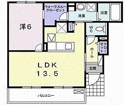 レットイットビィ2 1階1LDKの間取り