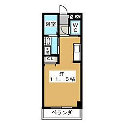 Kanihouse(カニハウス) 1階ワンルームの間取り