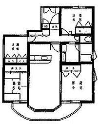 ハイフォルム寺塚2[2階]の間取り