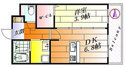アヴェニール千里丘東[3階]の間取り