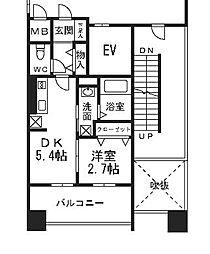 福岡市地下鉄空港線 大濠公園駅 徒歩9分の賃貸マンション 3階1DKの間取り