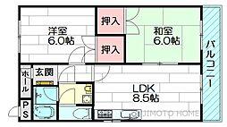 ベーネ江坂[2階]の間取り
