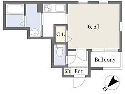 Cherim上飯田 3階ワンルームの間取り
