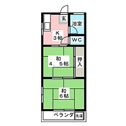 佐枝ビル[2階]の間取り