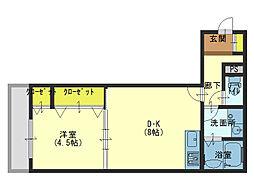 JR大阪環状線 玉造駅 徒歩2分の賃貸アパート 3階1LDKの間取り