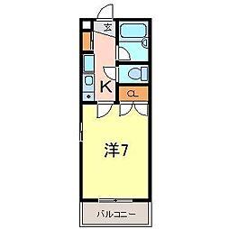 ファミール井ヶ谷B[105号室]の間取り