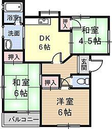 日吉ハイツ[1階]の間取り