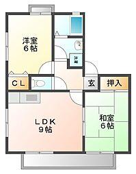 VING TAINE 津門I・II[1階]の間取り