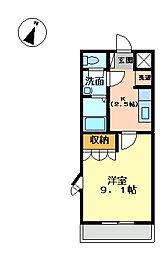兵庫県姫路市保城の賃貸アパートの間取り