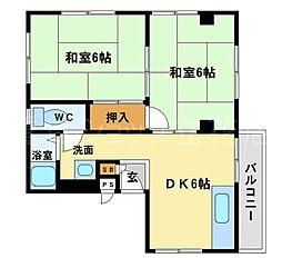 シャローム中村2番館[2階]の間取り