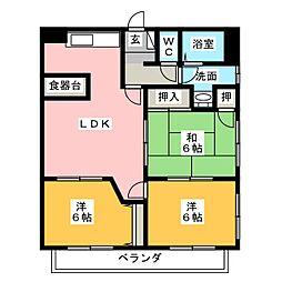 セーフティーメゾン新富士[2階]の間取り