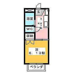 聖ハイツまいむII[1階]の間取り